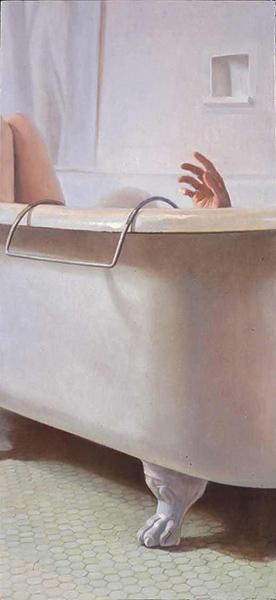 Melanie Vote painting: Emanate (2004), oil on panel, 22x33.5 in.