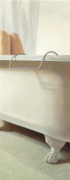 Melanie Vote painting: Obscured (2005), oil on panel, 24x48 in.