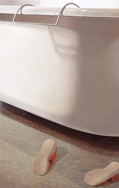 Melanie Vote painting: Without (2006), oil on panel, 31x48 in.