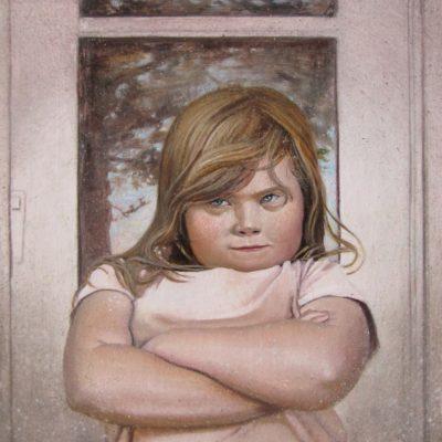Melanie Vote painting: Cheyenne (2012), oil on panel, 8x8 in.