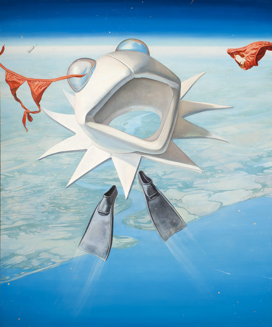 Melanie Vote painting: UP (2012), oil on linen, 72x56in