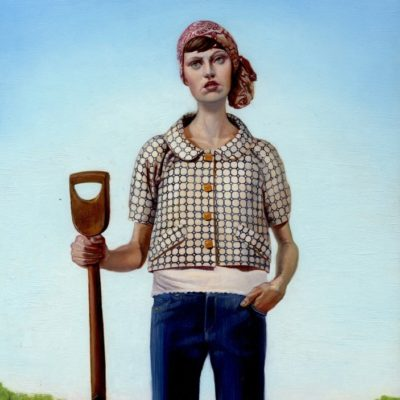 Girl with Spade (2008)oil on panel10 x 17 in.