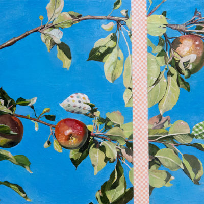 Melanie Vote painting: These Apples (2013) oil on panel, 9 x 12 in.