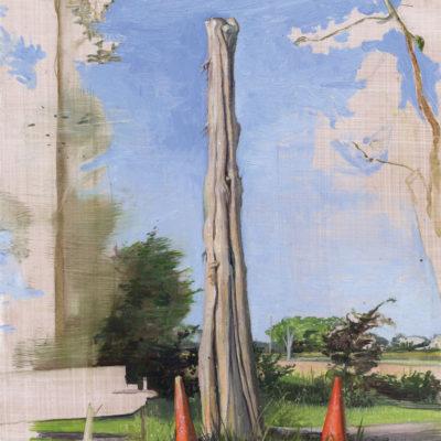 Melanie Vote: Totem (2011), oil on paper, 10x13 in.
