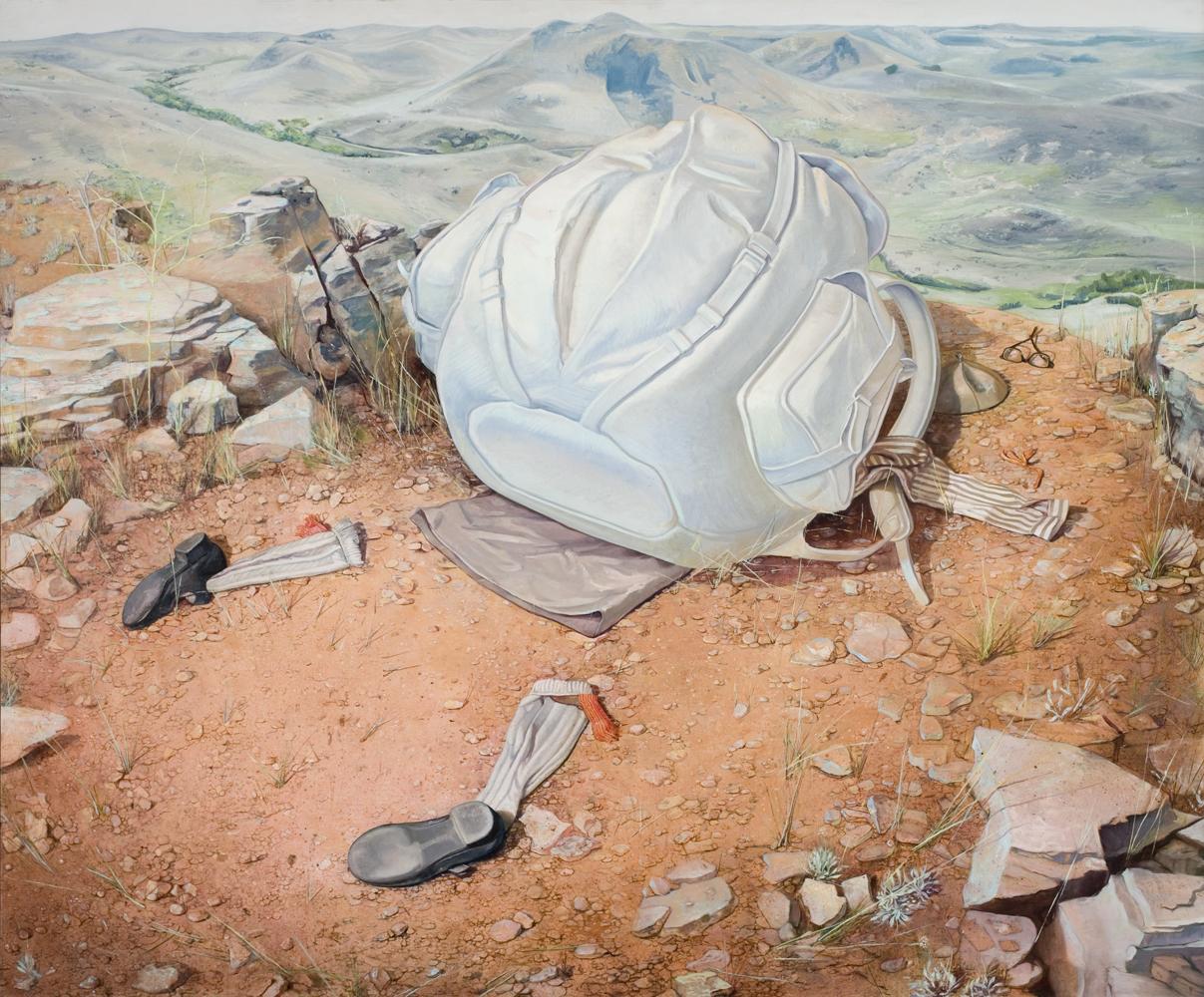 Melanie Vote painting: Metamorphosis (2011), oil on linen, 58x70 in.