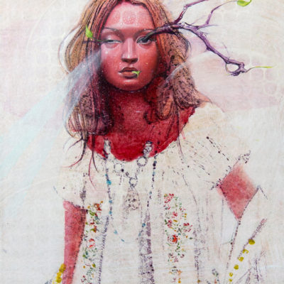 Melanie Vote: Spring (2015) oil on paper on panel 8,5x11 in.