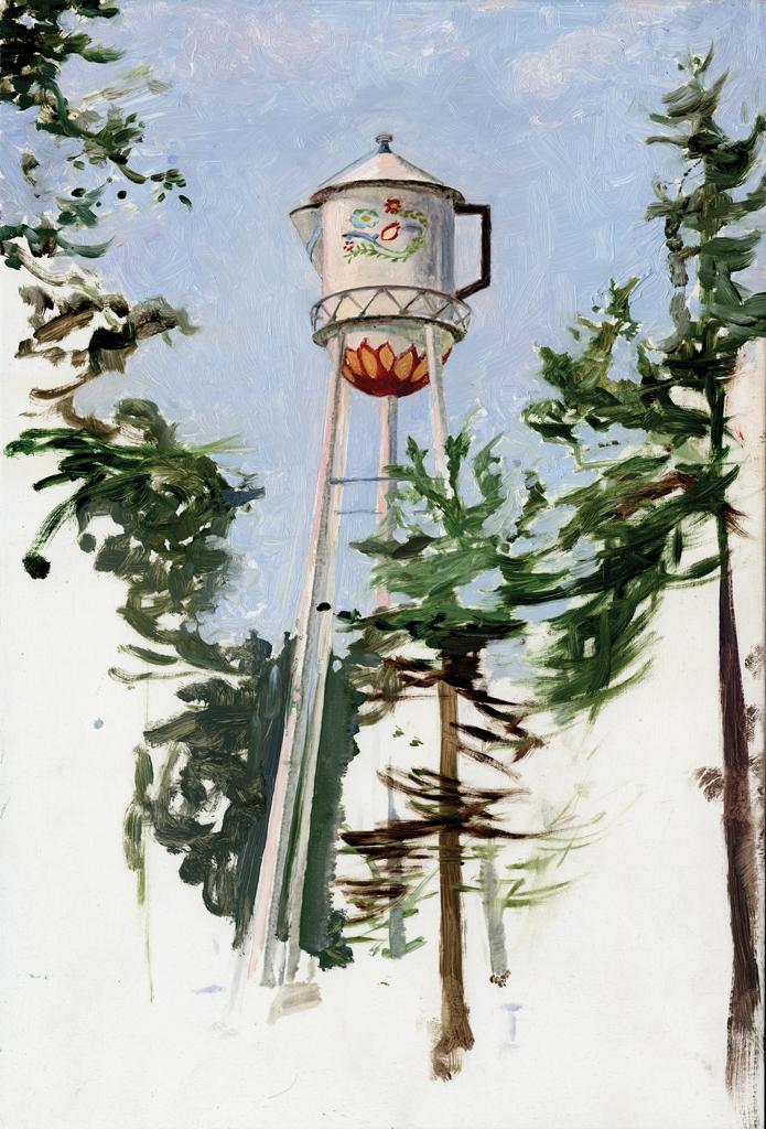 Melanie Vote painting: Stanton (2007) oil on panel 8 x12in
