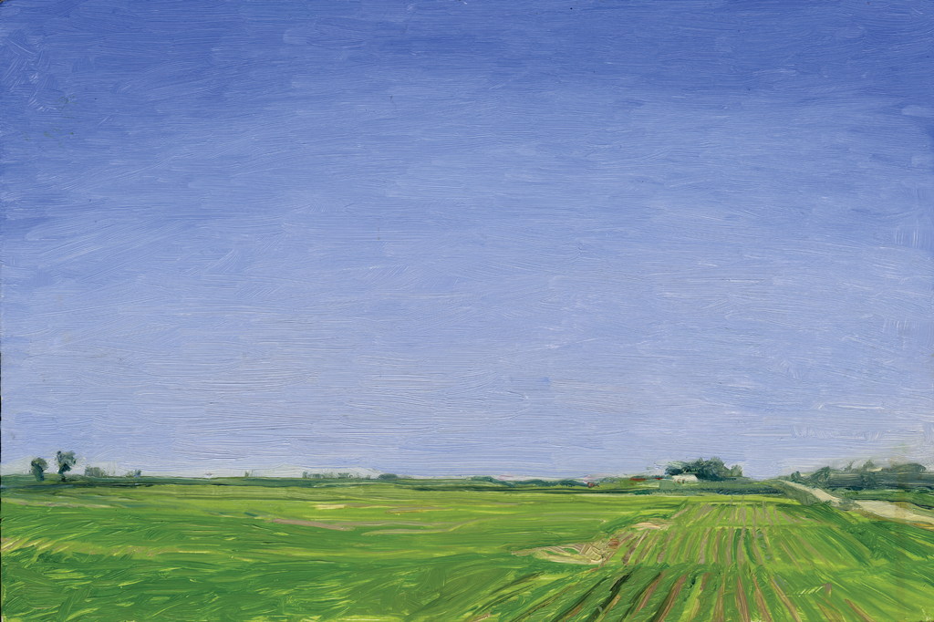 Melanie Vote: Farnhamville (2007), oil on panel, 8 x12 in.