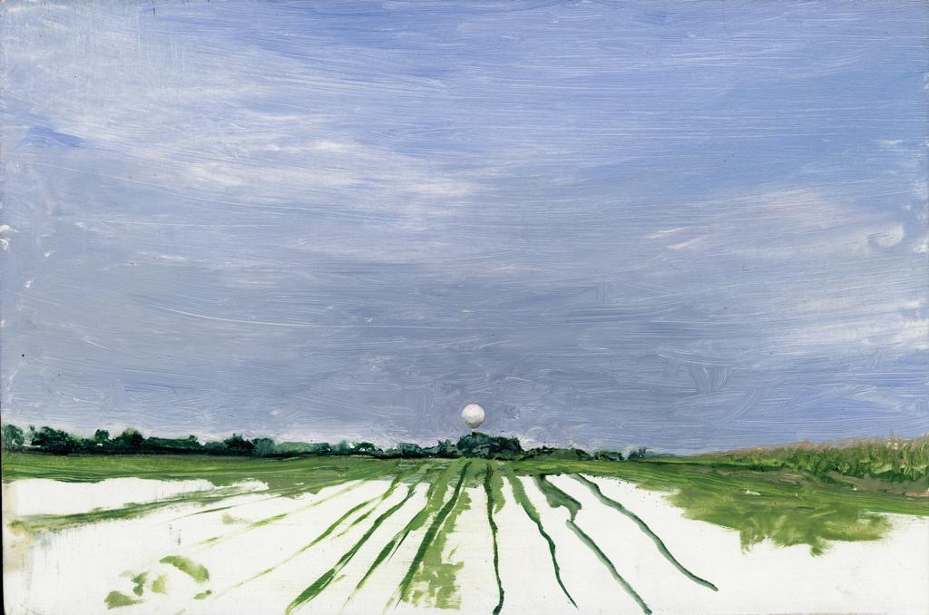 Melanie Vote: Lorhville (2007), oil on panel, 8 x12 in.