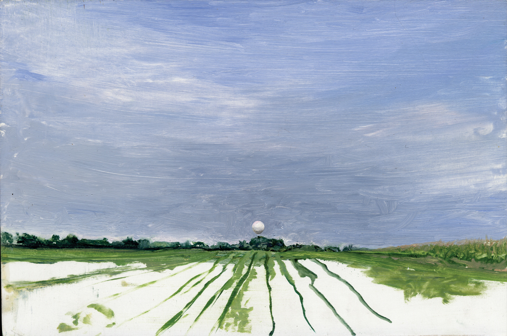 Melanie Vote: Lorhville (2007), oil on panel, 8 x12 in.