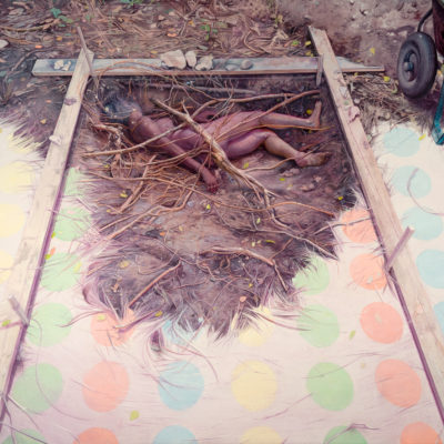 Melanie Vote excavation of life and death painting