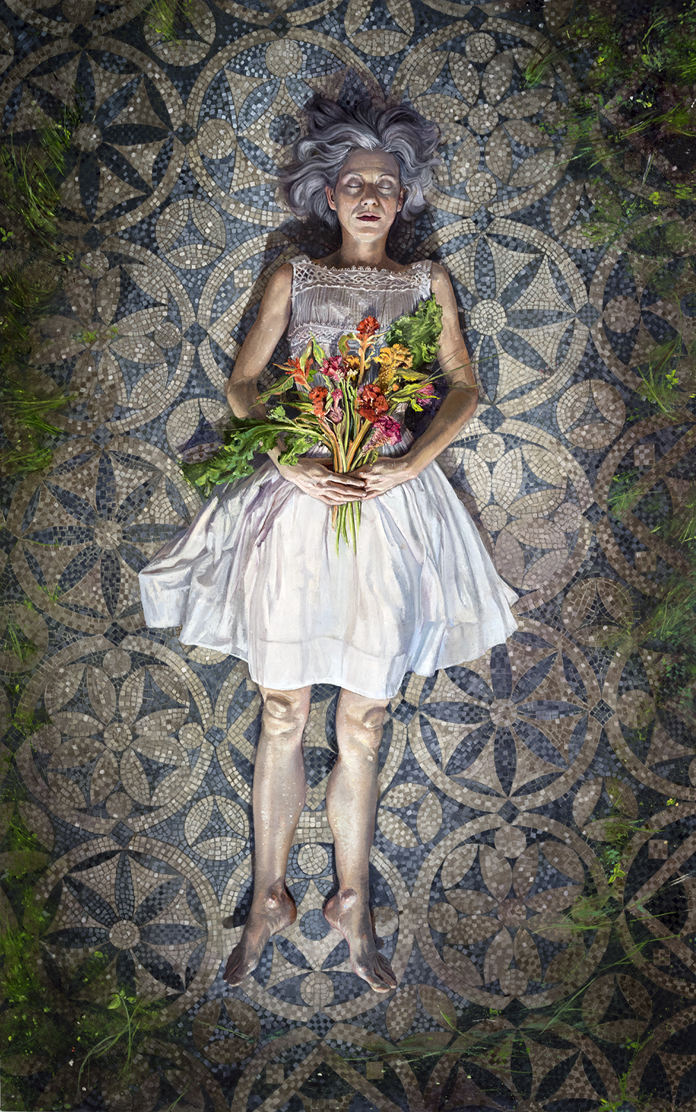 Melanie Vote Place Like Home oil on linen painting part of the show Overgrowth at Hionas Gallery New York City