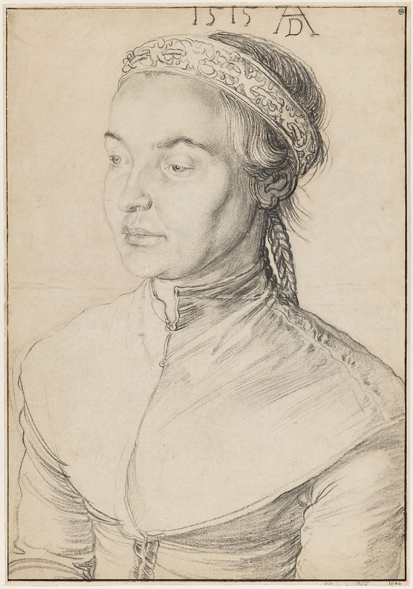 Albrecht Durer German (1471–1528) Portrait of a Young Woman with Braided Hair
