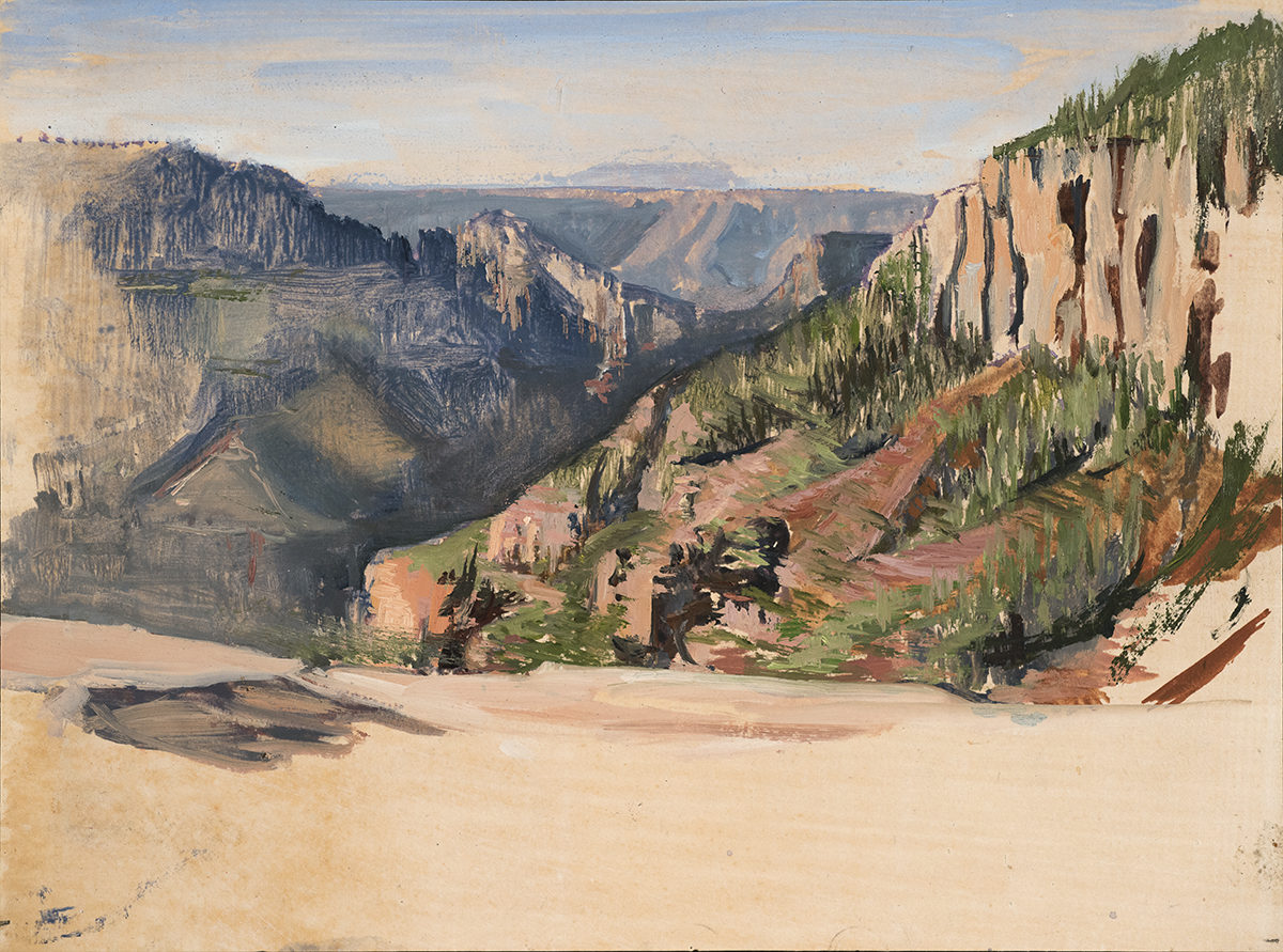 Coconino Overlook(2017)oil on paper 5x7in.