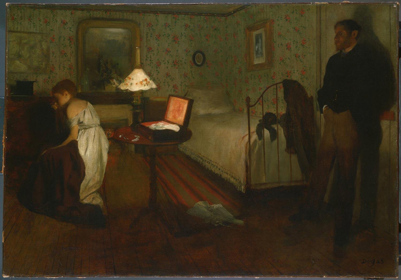 Interior (Intérieur, Le Viol) Hilaire-Germain-Edgar Degas,