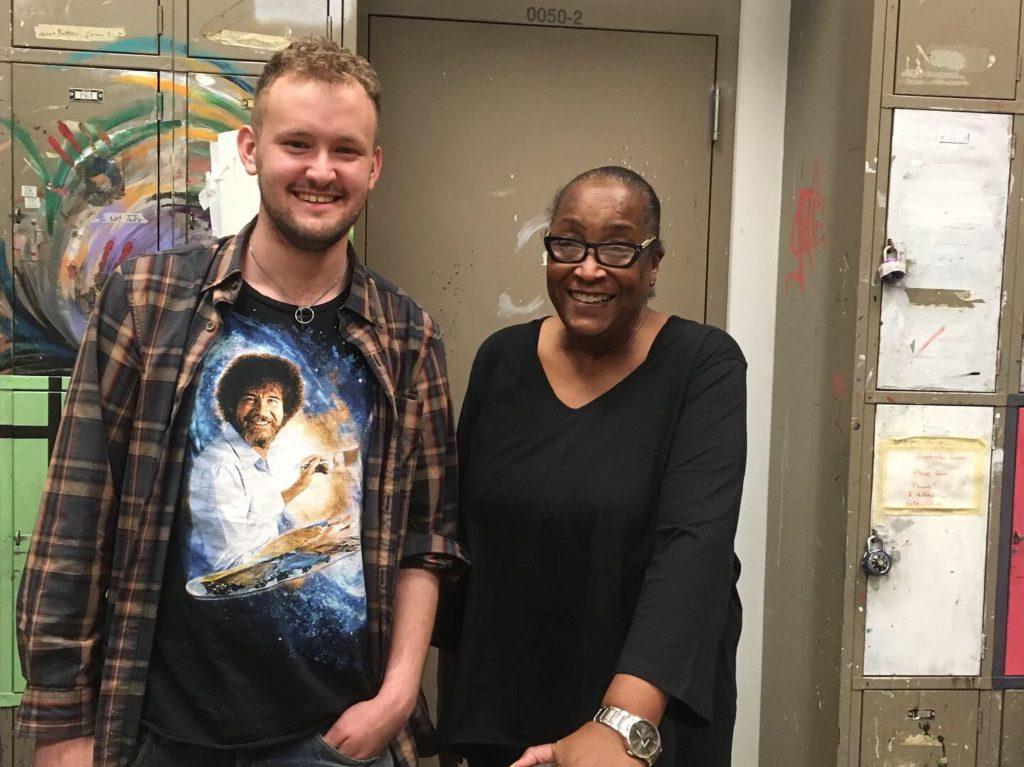 Brenda Jones with former student